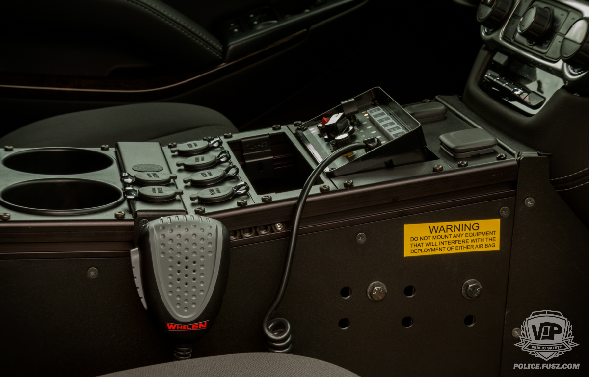 2016 chevy tahoe emergency support console closeup