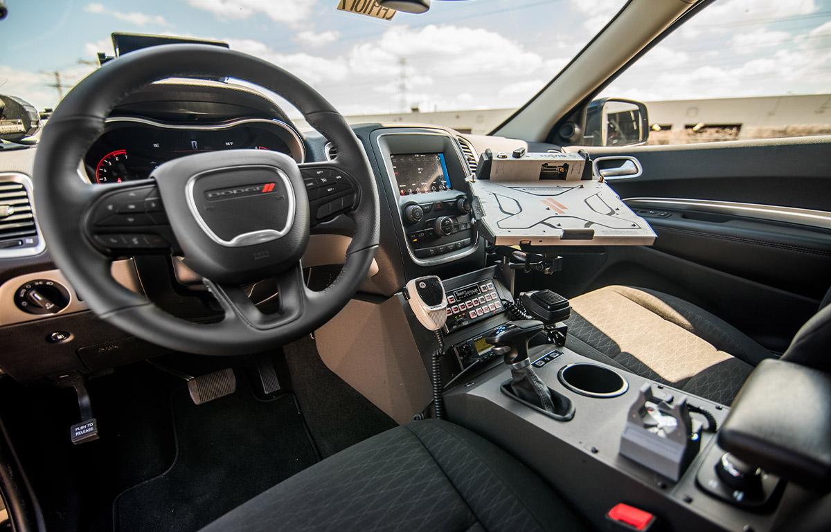 2019 dodge durango blackout pursuit package interior front